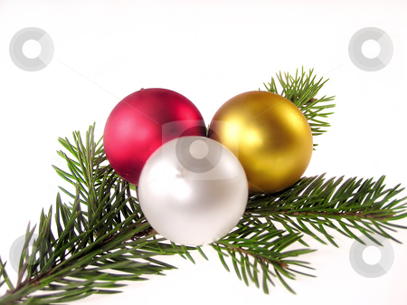 Christmas decoration stock photo, Christmas glass ball isolated by Marek Kosmal
