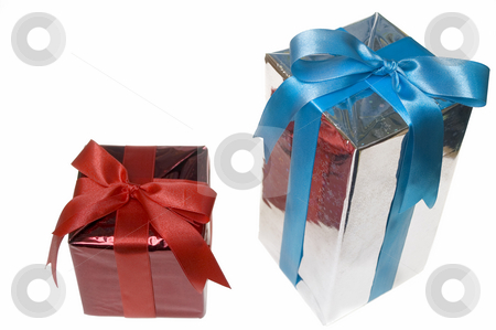 Christmas presents stock photo, Christmas gift isolated on white by Marek Kosmal