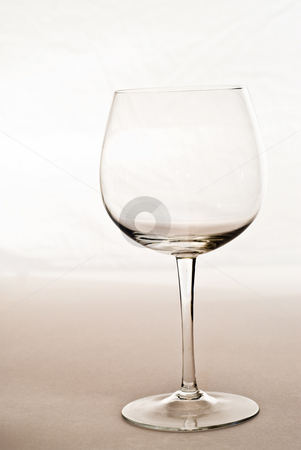 Empty Wine Glass stock photo, An empty wine glass shot in a studio by Richard Nelson