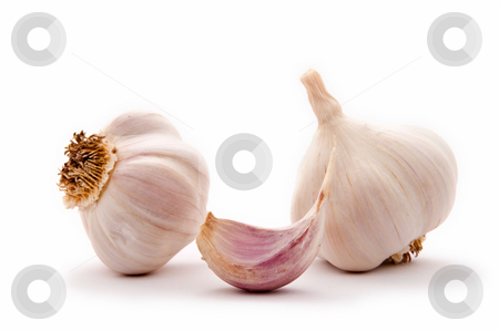 Garlic bulbs stock photo, Allium sp. Garlic is widely used for its pungent flavor. by Dariusz Majgier