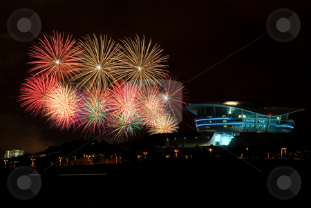 World Cup Firework Competitions stock photo, Putrajaya Fireworks Show by Jaggat Images