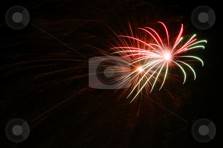 Colorful fireworks on dark sky stock photo, Colorful fireworks on dark sky by Marek Kosmal