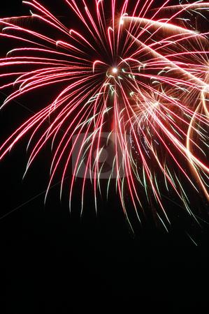 Colorful fireworks on dark sky stock photo, Colorful fireworks on dark sky by Marek Kosmal