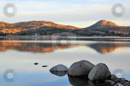 Mountain Lake In The Morning stock photo, Loon Lake in the California Sierra Nevada mountians by Lynn Bendickson