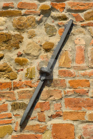Armierung einer Hauswand eines Hauses in der Toskana - Detail of a house wall of a house in tuscany, stock photo, Verwendet zur Verst?rkung der Statisk des Hauses - Used to add stability to the structure of the building by Wolfgang Heidasch