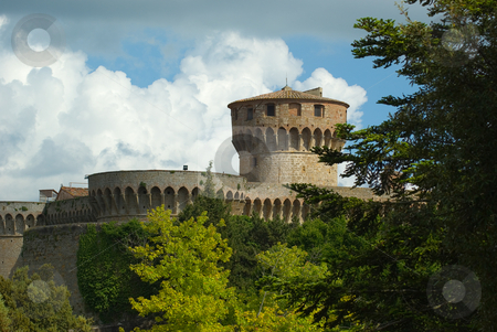 La fortezza medicea, Volterra stock photo, La fortezza medicea, Volterra by Wolfgang Heidasch