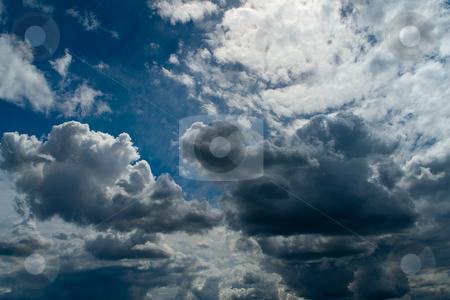 Gewitterwolken stock photo, Gewitterwolken by Wolfgang Heidasch