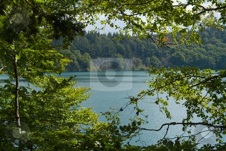 Kratersee in der Aufvergne, Frankreich, Europa stock photo, Im erloschenen Vulkan hat sich der Krater mit Wasser gef?llt. by Wolfgang Heidasch