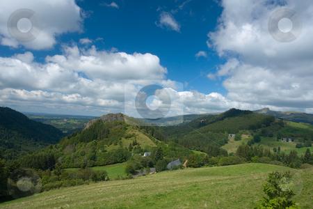 Landschaft in der Auvergne, Frankreich, Europa stock photo, Die Auvergne ist eine alte Vulkanlandschaft in Zentralfrankreich. by Wolfgang Heidasch