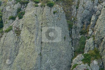 Les Roches Tuili?re et Sanadoire im Massif des Monts Dore, Auvergne, Frankreich stock photo, Zwei alte, verwitterte Vulkanschlote, getrennt durch ein eiszeitliches Tal. by Wolfgang Heidasch