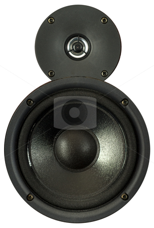 Loudspeakers stock photo, A pair of loudspeakers by Peter Soderstrom