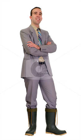 Success stock photo, Concept of a businessman doing well in a poor economy by Richard Nelson