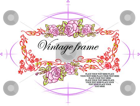 Wedding or Valentine`s day card, Vintage style.  stock vector clipart, Wedding or Valentine`s day card, Vintage style. Vector by Leonid Dorfman