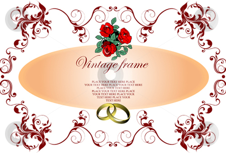 Wedding or Valentine`s day card stock vector clipart, Wedding or Valentine`s day card. Vector illustration by Leonid Dorfman