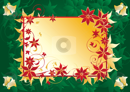 Christmas frame stock vector clipart, Cornered Label Background vector illustration by Milsi Art
