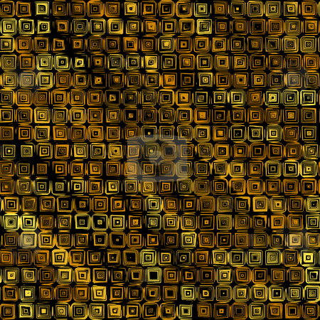 Grunge tile pattern stock photo, Abstract texture of yellow and brown squares by Wino Evertz