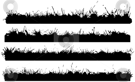 Four splattered borders stock vector clipart, Four splattered borders for when you need a grungy edge by Adrian Sawvel