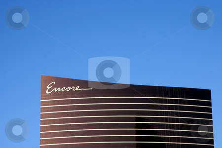 Encore Casino stock photo, A exterior shot of the Encore casino and hotel in Las Vegas by Kevin Tietz