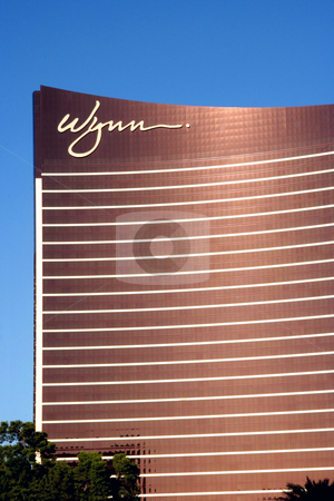 Wynn Casino stock photo, A exterior shot of the Wynn casino and hotel in Las Vegas, Nevada by Kevin Tietz