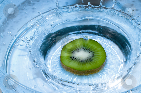 Kiwi stock photo, Kiwi splashing by Marek Kosmal
