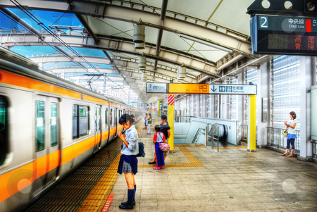 Tokyo Train Station stock photo, Station in Tokyo, Japan. by Josh Smith