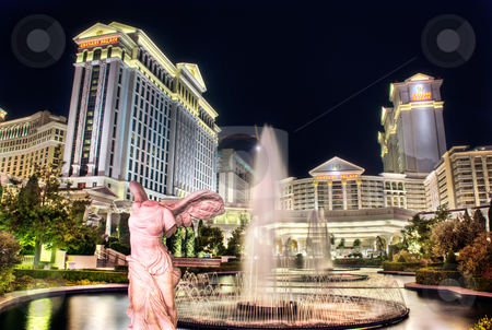 Nightlife in Las Vegas stock photo, Las Vegas, Nevada, USA. by Josh Smith