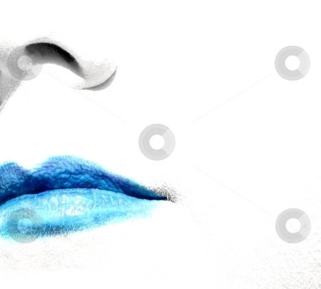 Frozen stock photo, Blue lips and a white face by Karma Shuford