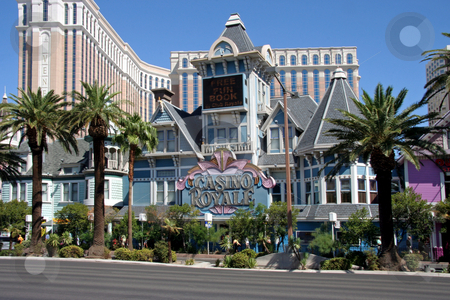 Casino Royal Hotel and Casino stock photo, A exterior shot of the Casino Royal casino and hotel in Las Vegas by Kevin Tietz