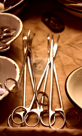 The surgical instruments stock photo, The worker medical instruments to rest upon the surgical table by Aleksandr GAvrilov
