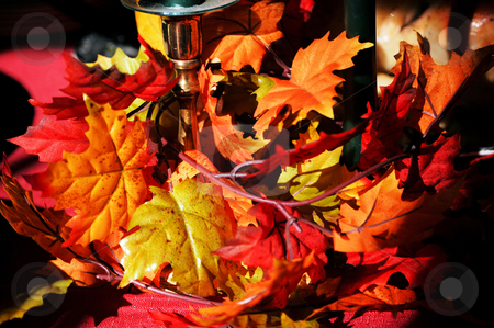 Fall table scene stock photo, Fall table scene during the thanksgiving season by Tim Markley
