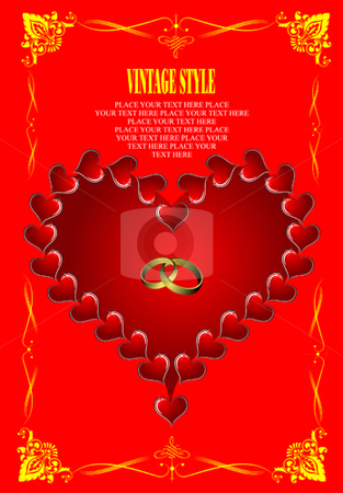 Valentine`s Day  Greeting Card stock vector clipart, Valentine`s Day  Greeting Card. Vector illustration. Cover by Leonid Dorfman