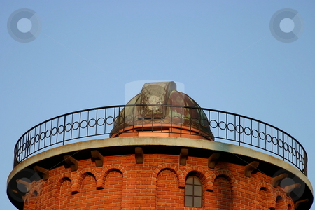 Old Observatory stock photo, An old observatory red brick building and copper roof by Henrik Lehnerer