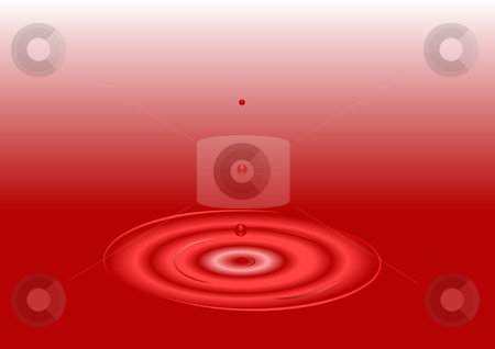 Red Drop Background stock photo, Red Drop illustration background by John Teeter