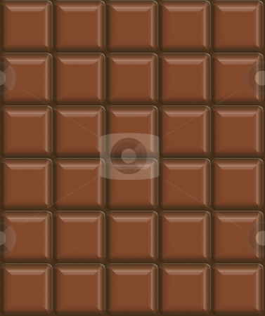 Chocolate stock photo, 3d texture of chocolate bar in blocks by Wino Evertz