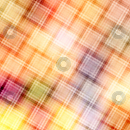 Blur squares pattern stock photo, Pattern of diagonal blurred cubes in warm colors by Wino Evertz