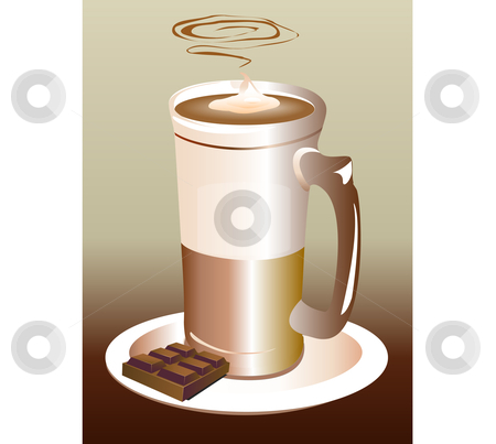 Vector Latte stock vector clipart, Vector Latte Cappucino by Edward White