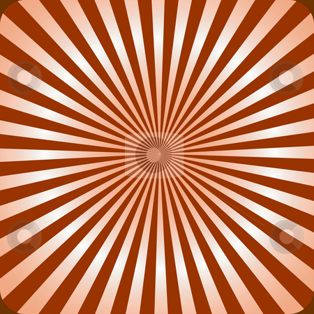 Brown sunburst stock photo, Classical, retro style sunburst with a 3d effect by Sybille Yates