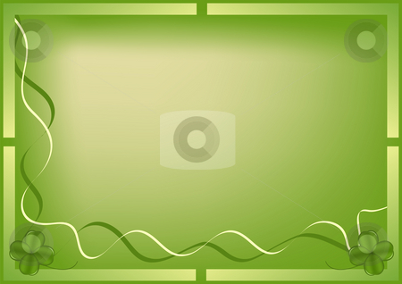 Saint Patricks Day Background stock photo, Saint patricks day illustrated background by John Teeter