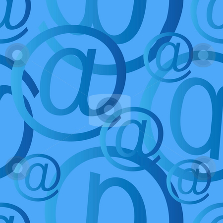 Seamless at big stock photo, Seamless at email sign background pattern, email or spam mail concept by Sybille Yates