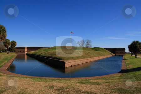 Fort Pulaski stock photo, Fort Pulaski is a Civil War fortification at the mouth of the Savannah River in Georgia by Jack Schiffer