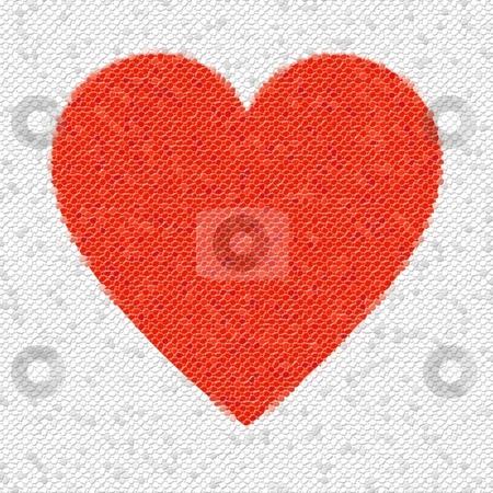 Heart Mosaic Octagons stock photo, Red heart mosaic made from little tiles. by Henrik Lehnerer