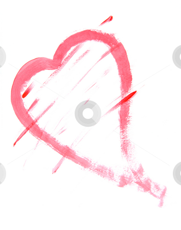 Heart Painting stock photo, Heart shape painting on white background by Brent Hathaway
