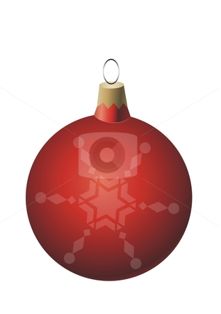 Red Christmas ball ornament stock photo, Red Christmas ball ornament by Mihai Zaharia