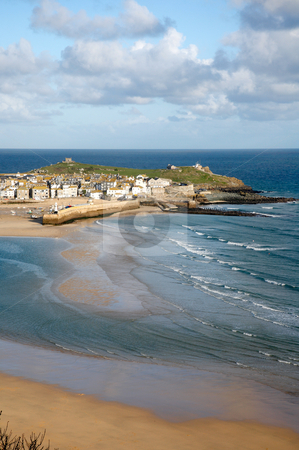 St. Ives at low tide, Cornwall UK. stock photo, St. Ives at low tide, Cornwall UK. by Stephen Rees