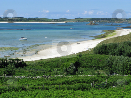 St. Martins, Isles of Scilly middle town beach. stock photo, St. Martins, Isles of Scilly middle town beach. by Stephen Rees