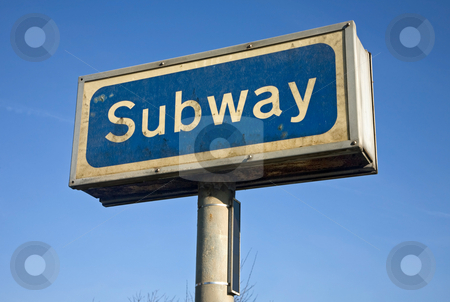 Old dirty subway sign. stock photo, Old dirty subway sign. by Stephen Rees