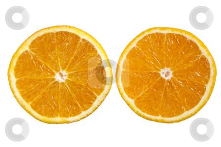 An orange sliced in half. stock photo, An orange sliced in half. by Stephen Rees