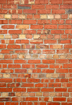 Colorful old red brick wall. stock photo, Colorful old red brick wall. by Stephen Rees