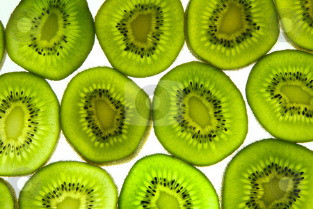 Colorful kiwi fruit slices. stock photo, Colorful kiwi fruit slices. by Stephen Rees