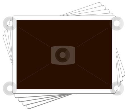 An illustration of a stack of five photos. stock photo, An illustration of a stack of five photos. by Stephen Rees